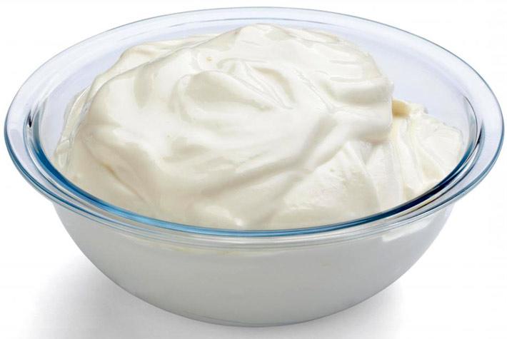 maschera facciale yogurt