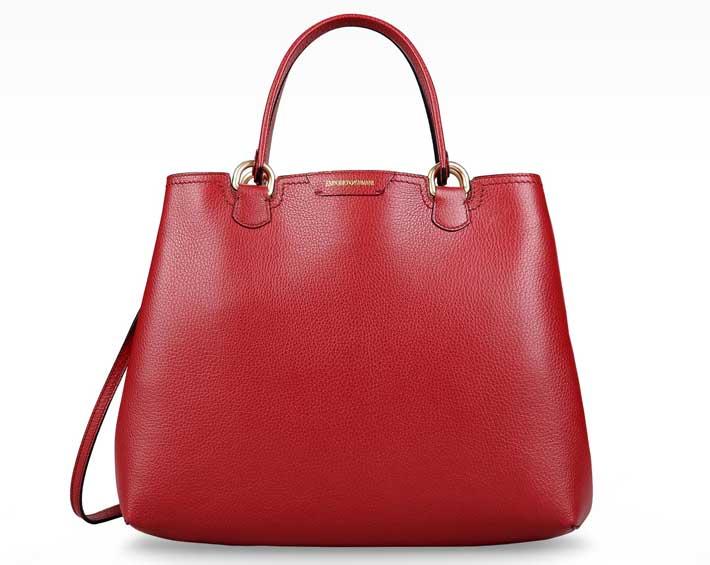 f45feee3dd foto borsa donna autunno-inverno 2015-2016 Armani Shopping bag Rossa