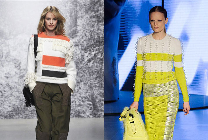 Paul e Joe e Kenzo autunno inverno 2014 2015 tricot colorati