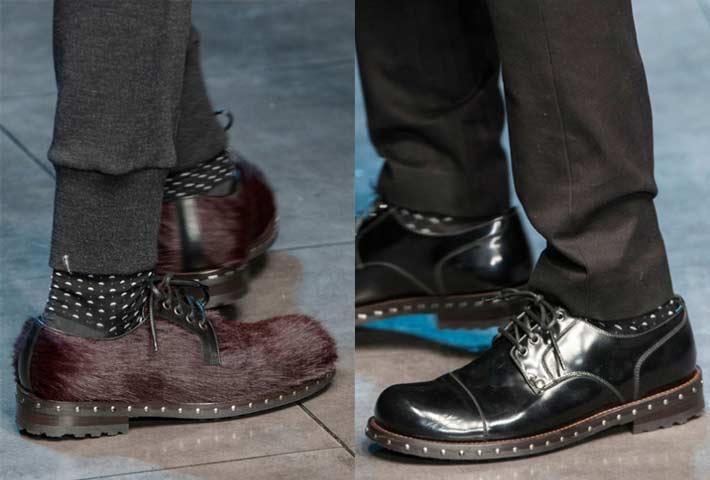 19c23ecf50e99 dolce e gabbana scarpe uomo con borchiette autunno inverno 2015 2016