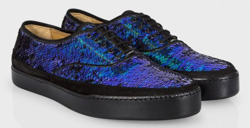 Scarpe Uomo Autunno Inverno 2014-2015 Paul Smith Stringate con Paillettes