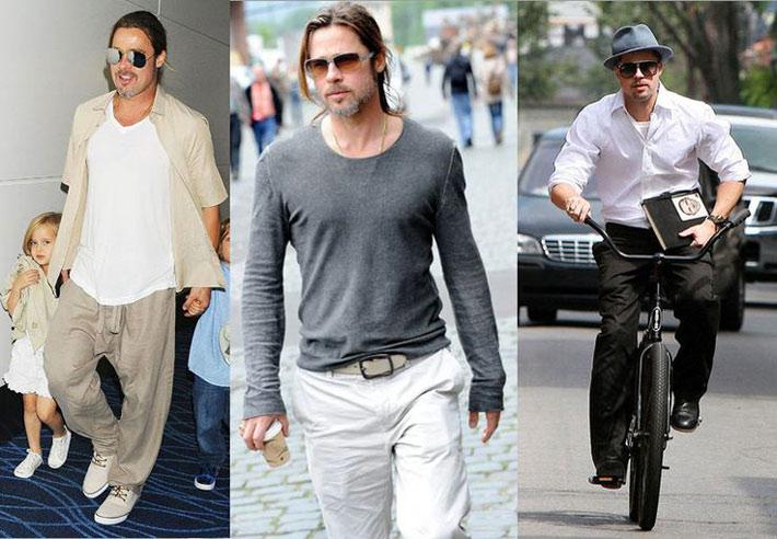 Famoso Moda Uomo: vestirsi come Brad Pitt QZ42