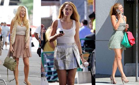 gonne indossate da Serena Van Der Woodsen