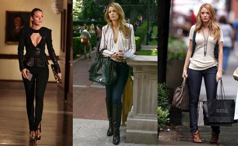 jeans stressi skinny come Serena Van Der Woodsen di Gossip Girl