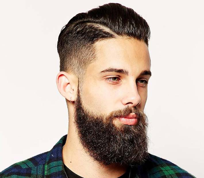 Acconciature uomo con barba