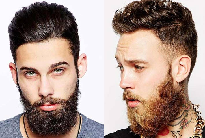 Taglio Capelli Uomo Matrimonio : Uomo barba e taglio capelli corti rasati ai lati lunghi