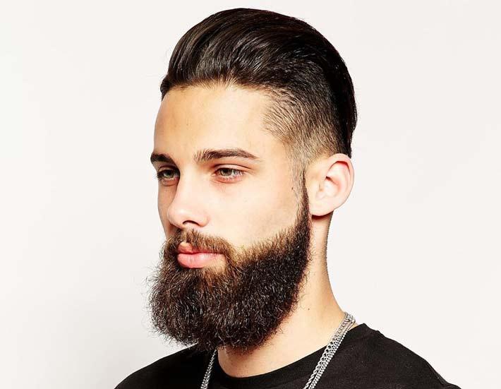 Super Immagine Taglio Capelli Uomo Undercut rasato ai lati con barba  ER08