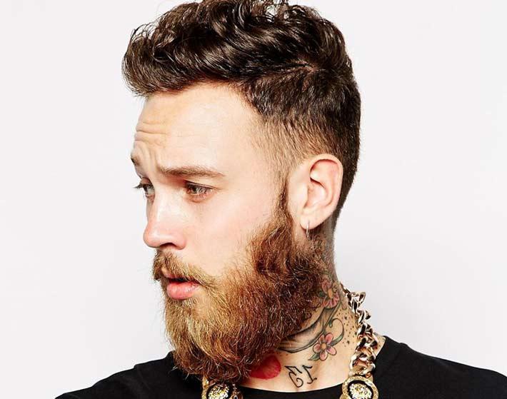 Exceptionnel Taglio Capelli Uomo rasati ai lati lunghi sopra + barba lunga  TQ85