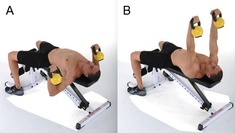 esercizi kettlebell chest press