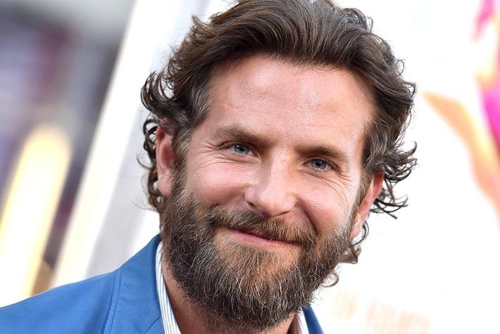 spesso Taglio Capelli Lunghi Uomo Stempiato Con Barba – Bradley Cooper  HP05