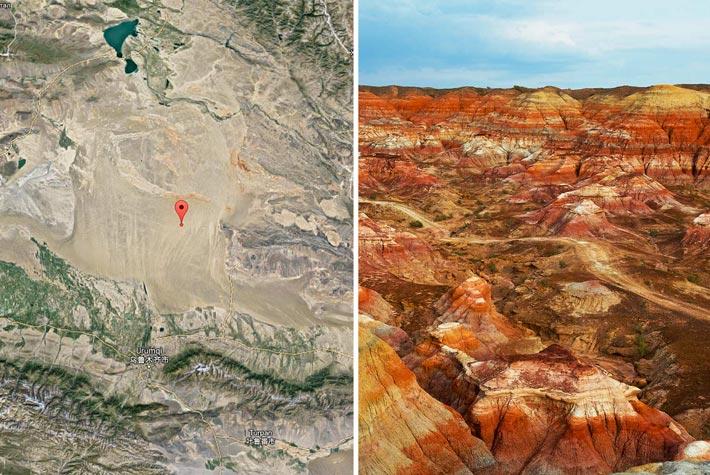 Polo Eurasiatico Dell'Inaccessibilita, Xinjiang, Cina - Luoghi Più Remoti Della Terra